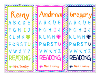 Editable Valentine's Day Bookmarks