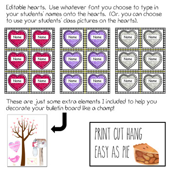 Editable Valentine's Day Bulletin Board - (Includes Work Coming Soon Poster)