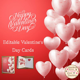Editable Valentine's Day Cards