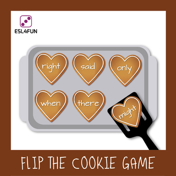 Editable Valentine's Day Flip the Cookie Game - Sight Words