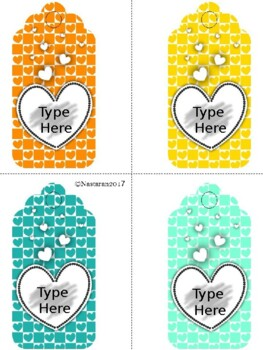 Editable Gift Tags(Large Size)