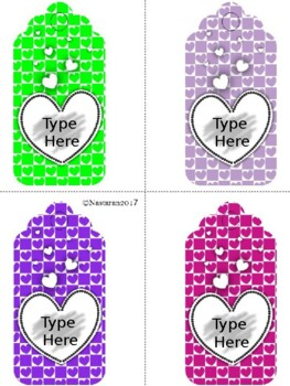 Editable Valentine's Day Gift Tags (Large Size)