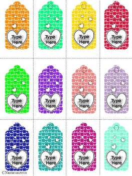 Editable Valentine's Day Gift Tags (Small Size)