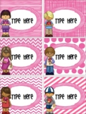 Editable Labels-Editable Valentine's Day With Kids