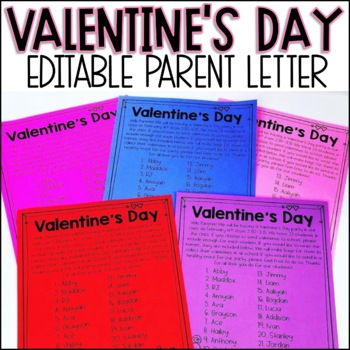 Editable Valentine S Day List By The Mountain Teacher Tpt