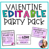 Editable Valentine's Day Party Pack