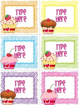 Editable Labels - Editable Valentine's Day Sweets