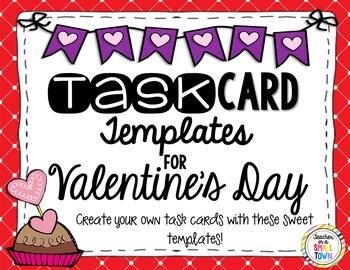 Editable Valentine's Day Task Cards