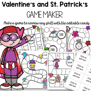 Editable Valentine's Day and St. Patrick's Day Games