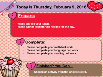 Editable Valentines Day Morning Board Templates