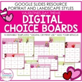 Editable Valentines Day Themed Digital Choice Boards