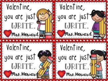 Valentines to Student from Teacher EDITABLE