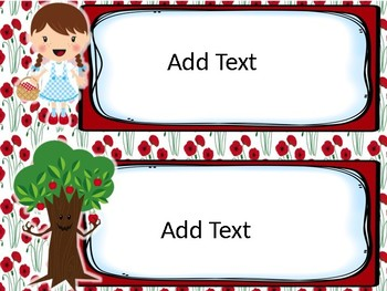 Editable Version Wizard of Oz Themed Classroom Schedule Cards (Poppy Flowers)