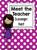 Editable Version of My Meet The Teacher Scavenger Hunt