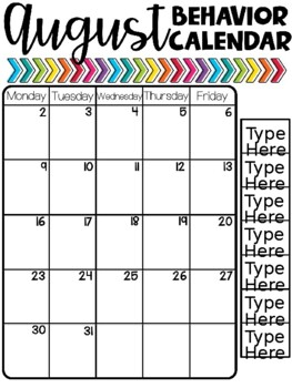 Editable Vertical Behavior Calendars