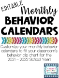 Editable Vertical Behavior Calendars
