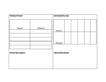 Editable Vertical & Horizontal Tables Template