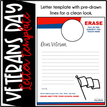 Editable Veterans Day Letter Template