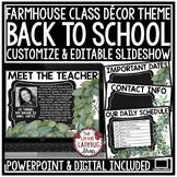 Farmhouse Theme Virtual Meet the Teacher Template Editable