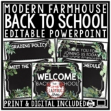 Farmhouse Open House PowerPoint Template, Meet the Teacher
