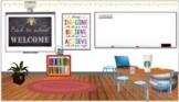 Editable Virtual Classroom for Bitmoji/Google Slides/Canvas