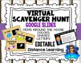 Editable Virtual Scavenger Hunt for Google Slides Distance Learning