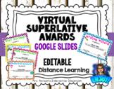 Editable Virtual Superlative Awards Google Slides Distance