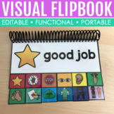 Editable Visual Command Flipbook for Special Education