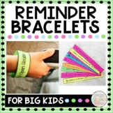 Reminder Bracelets Editable Visual Reminders for Middle School Students