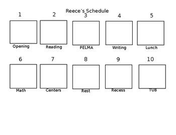 Editable Visual Schedule