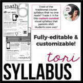 Editable Visual Syllabus Template Design 2 | Great for Bac