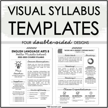 Editable Visual Syllabus Template For Back To School By Hello