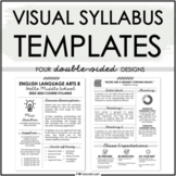 Creative Visual Syllabus Template Pack #2 for Back to School - EDITABLE