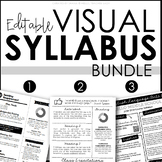 Creative Visual Syllabus Templates for Back to School - EDITABLE BUNDLE!