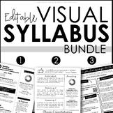 Visual Syllabus Templates BUNDLE - Editable Creative Syllabus