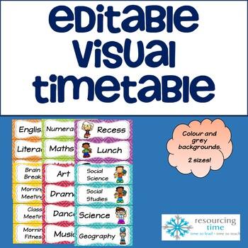 Editable Visual Timetable #christmasinjuly