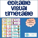 Editable Visual Timetable