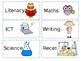 Editable Visual Timetable Cards