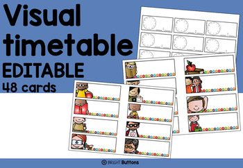 Editable Visual timetable / Daily schedule - buttons theme