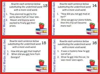 Editable Vivid Words Task Cards