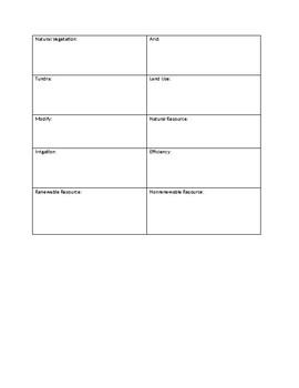 Editable Vocab Study Guide