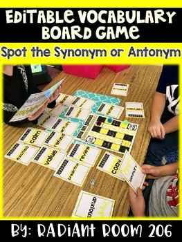 Editable Vocabulary Game