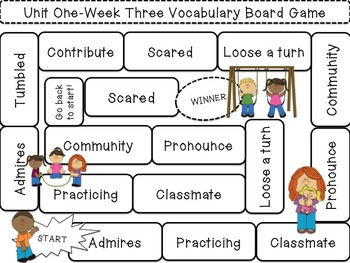 Editable Vocabulary Game Boards