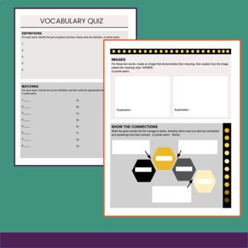 Sanity savers series editable vocabulary quiz template by spark sanity savers series editable vocabulary quiz template maxwellsz