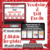 Editable Vocabulary & Unit Template Bundle for Avancemos 2