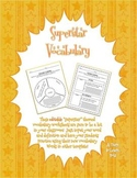 Editable Vocabulary Worksheets!