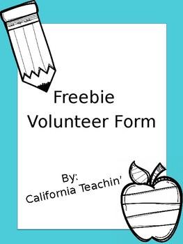 Editable Volunteer Form Freebie