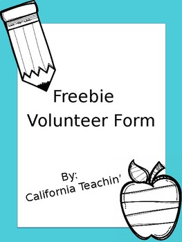 Editable Volunteer Form Freebie