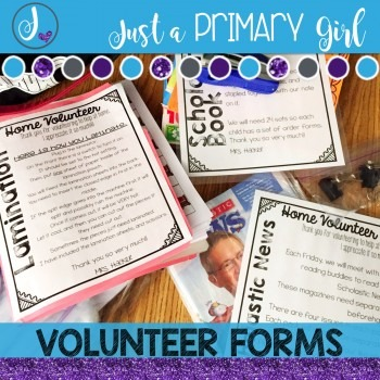 Editable Volunteer Forms