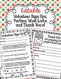 Editable Volunteer Sign Ups, Parties, Wish Lists, and Than